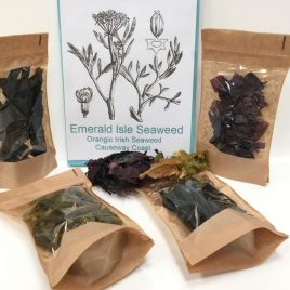 Organic Seaweed Mix,  Dulse, Sweat kelp, Sea Spaghetti, Irish Wakame, Carrageen moss